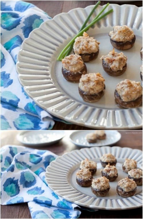 Homemade Low Carb Crab Stuffed Mushrooms