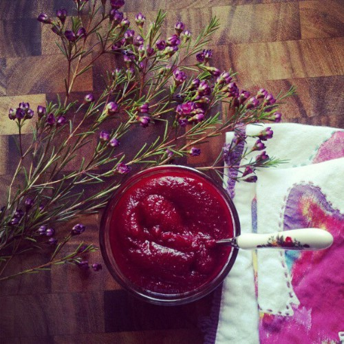 Beet And Blueberry Puree
