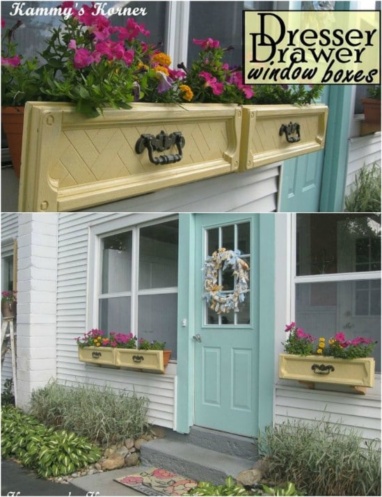Repurposed Dresser Drawer Window Box