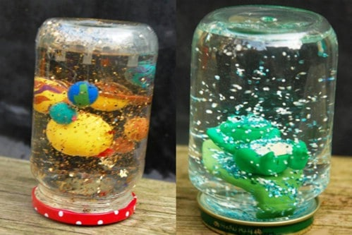 Homemade Snow Globe Jar