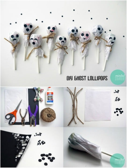 Quick And Easy DIY Ghost Lollipops