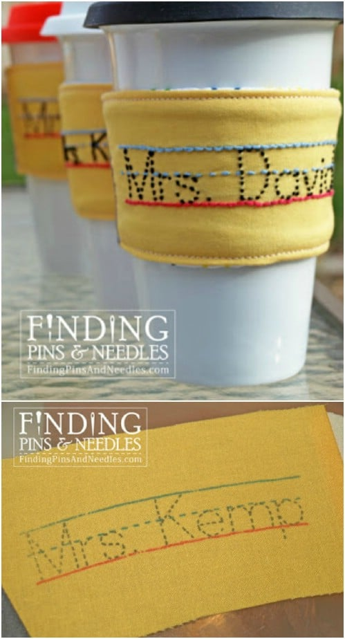 Personalized Embroidered Drink Sleeve