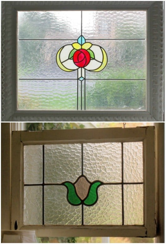 DIY Stained Glass Porch Windows