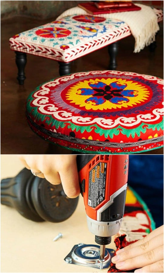14 Amazing DIY Decorative Ottomans Ideas