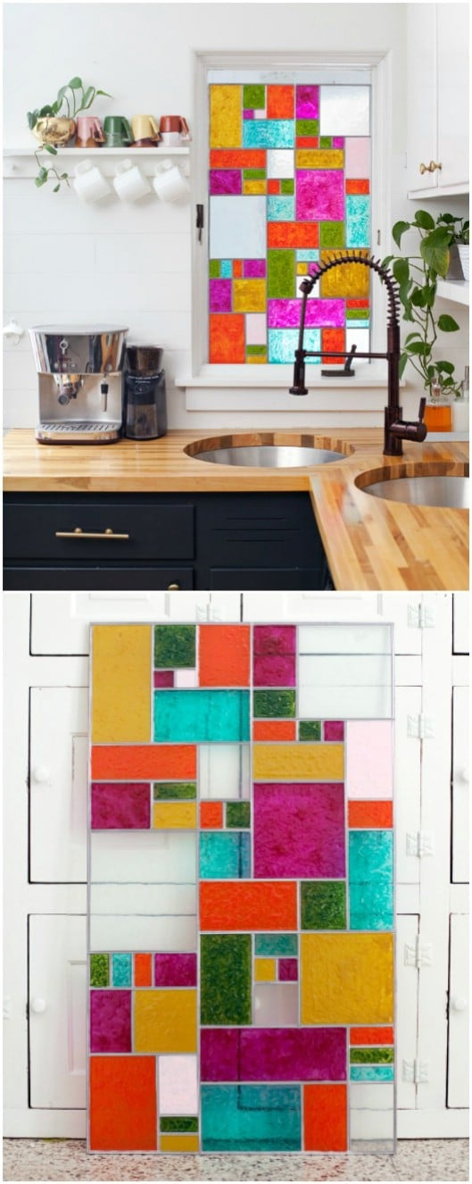 Tiffany Inspired DIY Stained Glass Windows