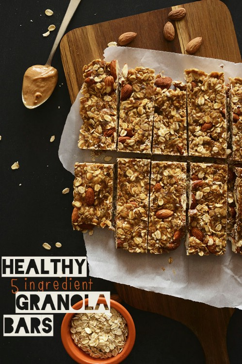 Five Ingredient Breakfast Granola Bars
