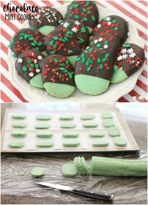 Homemade Chocolate Mint Christmas Cookies