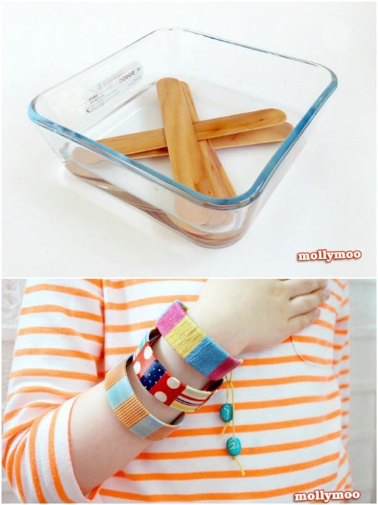 Genius Craft Stick Bracelets