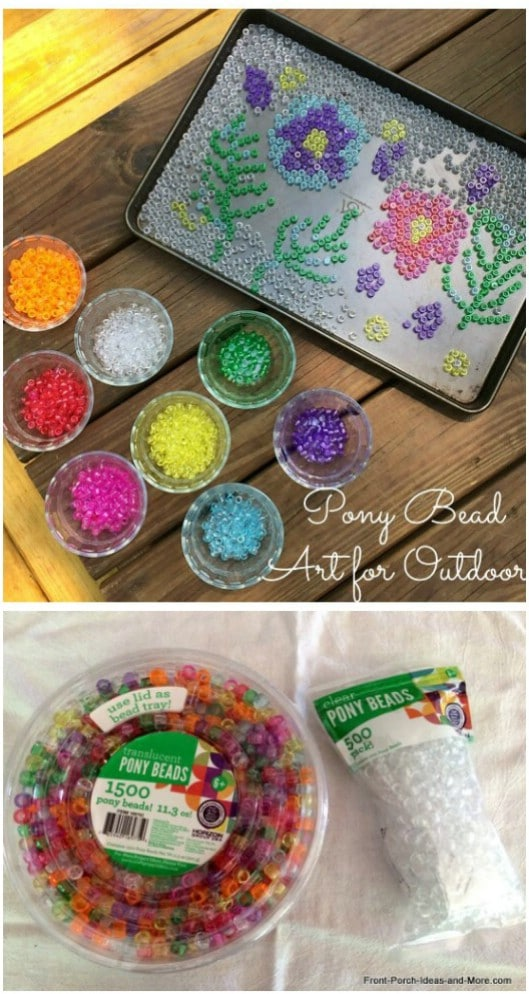 Melted Bead Stained Glass Art