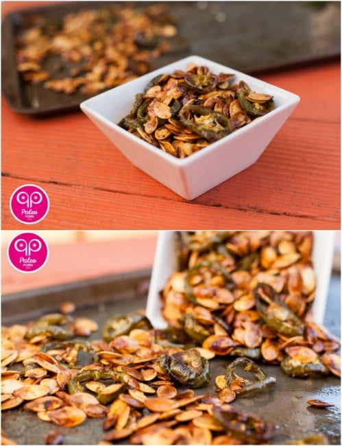 Homemade Paleo Jalapeno Pumpkin Seeds