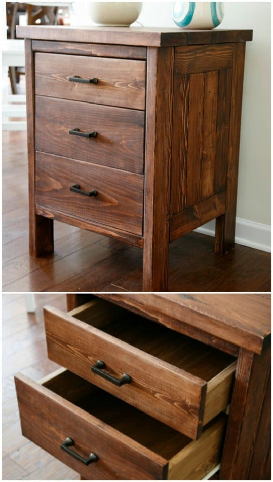 Easy Night Side Table From 2X4s
