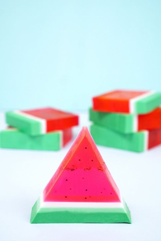 Watermelon Crafts - 15 Minute DIY Watermelon Soap - Easy DIY Ideas With Watermelons - Cute Craft Projects That Make Cool DIY Gifts - Wall Decor, Bedroom Art, Jewelry Idea