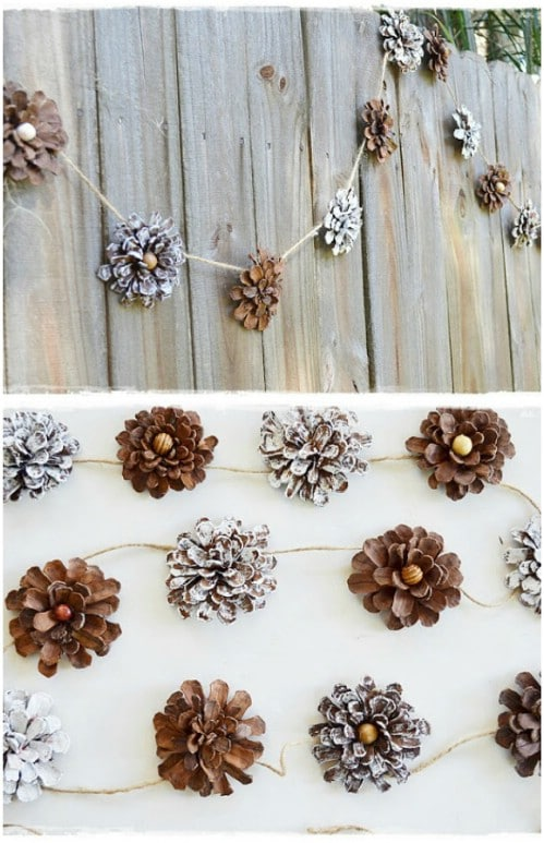 Pinecone Flower Garland