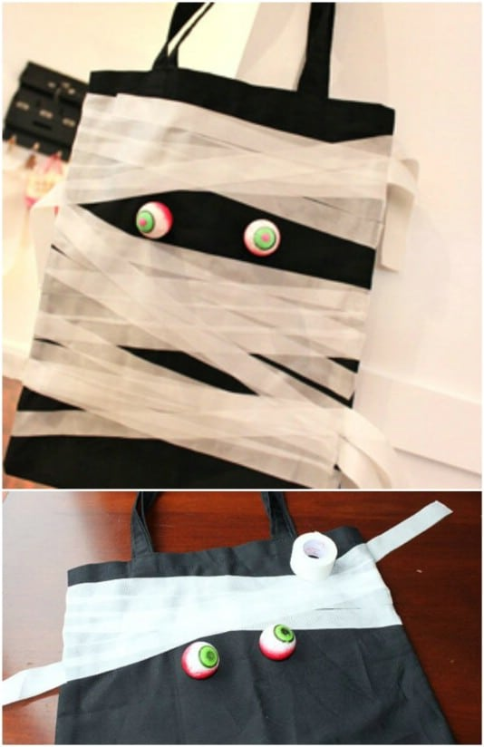 DIY Mummy Halloween Candy Bags