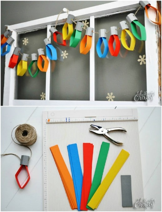 Easy Paper Lights Garland