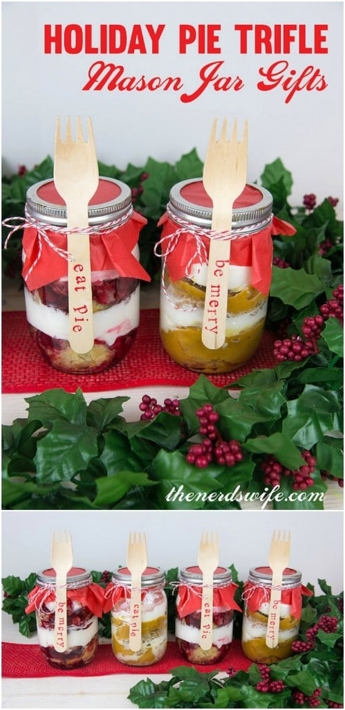 Holiday Pie Trifle Jar Gifts
