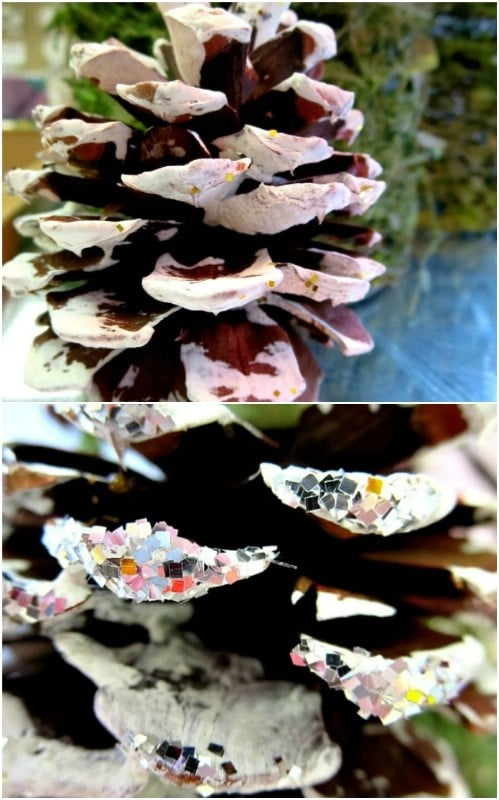 Frosted Winter Pinecone Craft