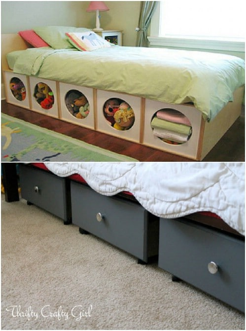 Easy Under Bed Stuffed Animal Pods