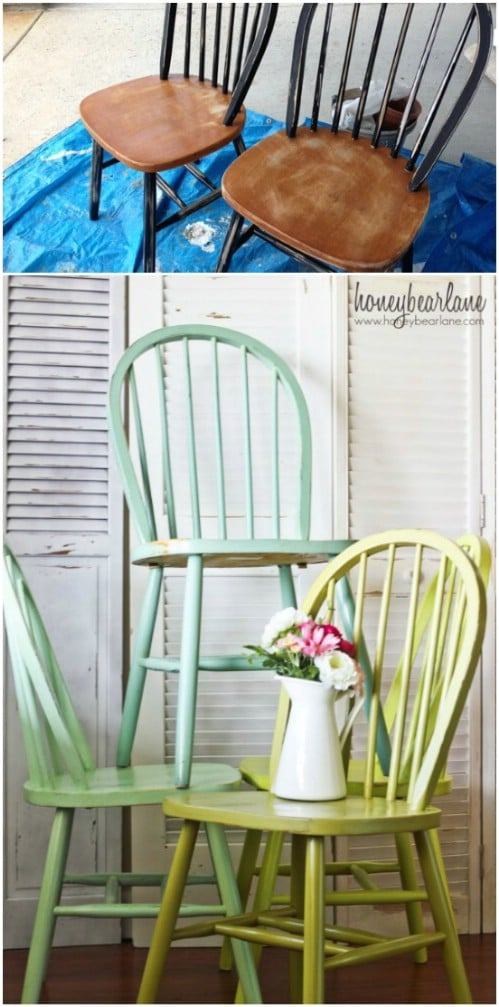 Just paint each of your chairs a slightly different color.