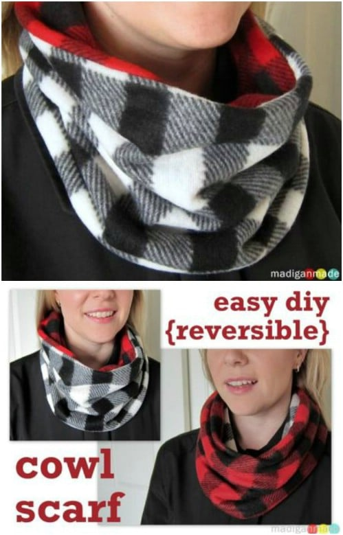 Easy Reversible Cowl Scarf