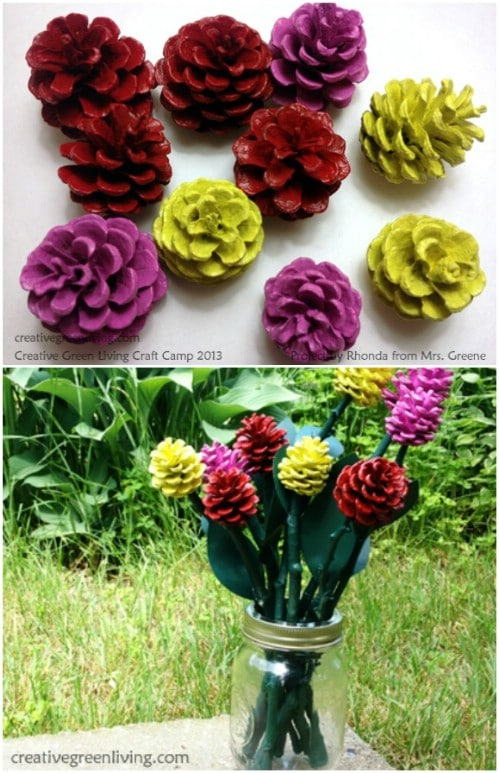 DIY Pinecone Roses