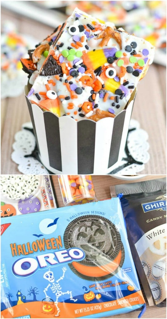 DIY Halloween Candy Bark