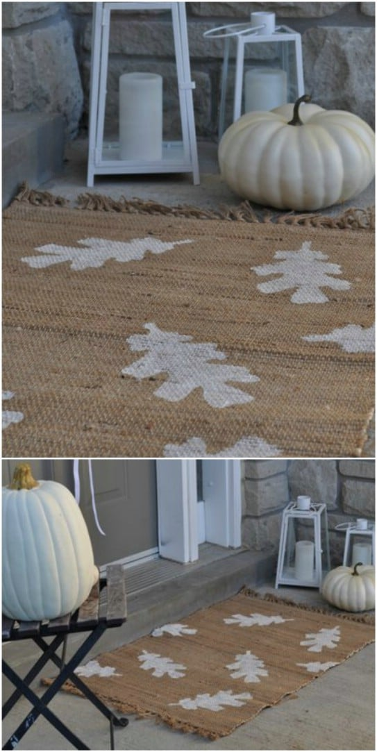 DIY Fall Leaf Doormat