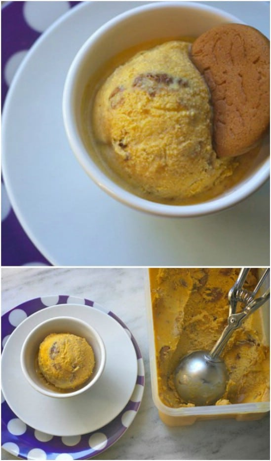 Pumpkin And Gingersnap Ice Cream