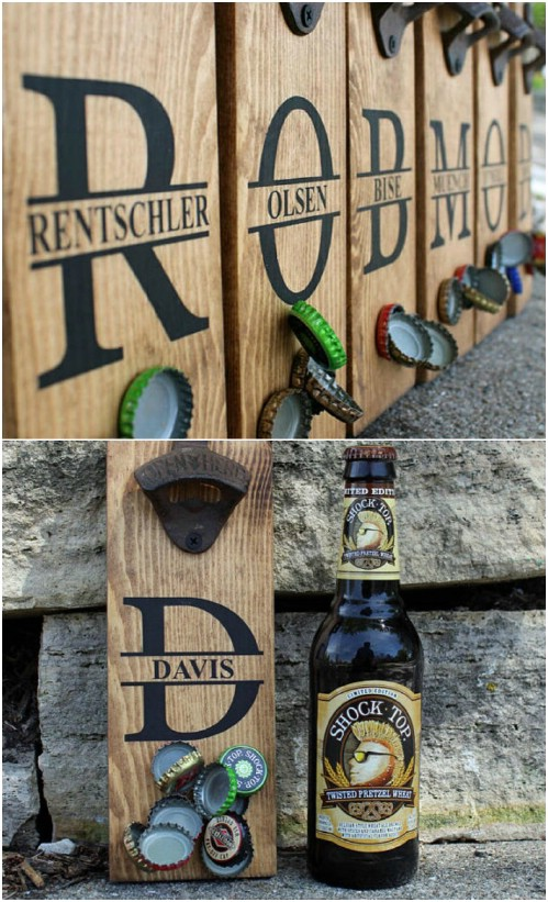 Magnetic Wooden Bottle Openers