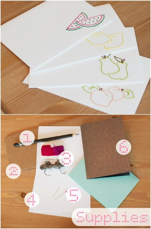 Easy DIY Hand Embroidered Cards