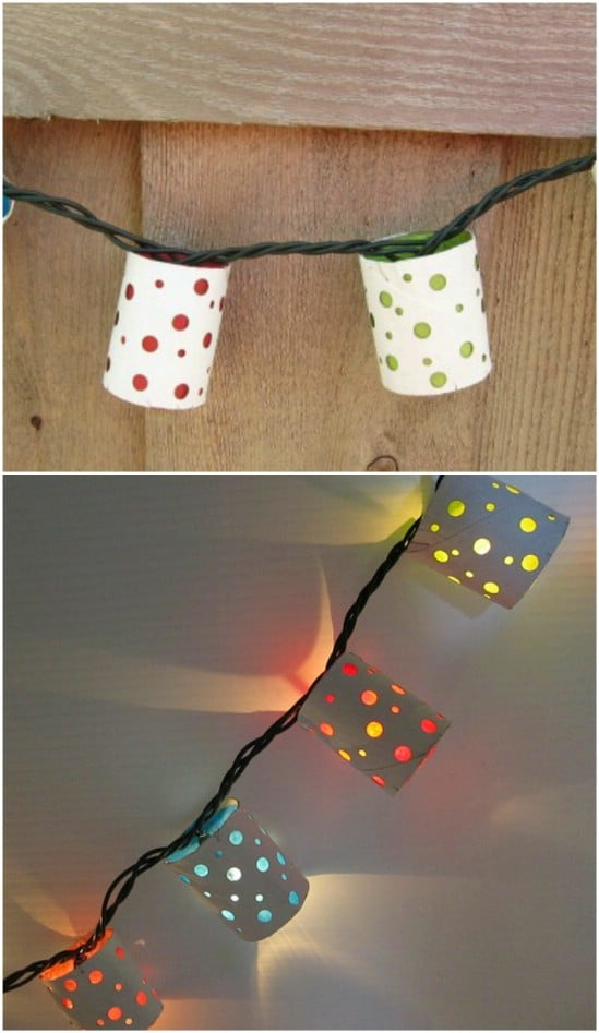 Upcycled Toilet Paper Roll Lanterns