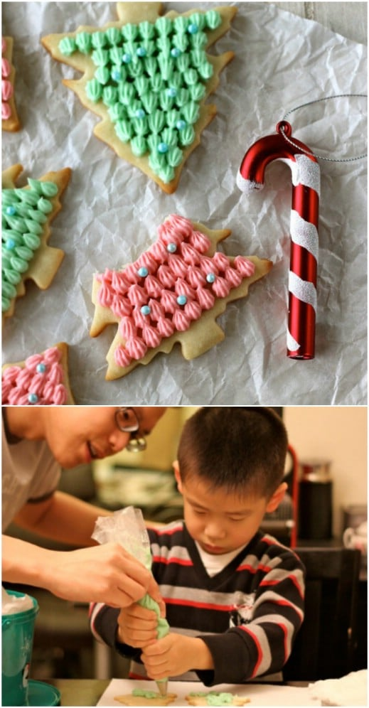 Christmas Tree Cut Out Cookies