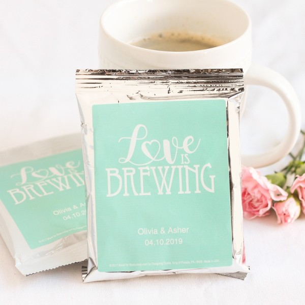 19.Personalized Wedding Coffee Favors