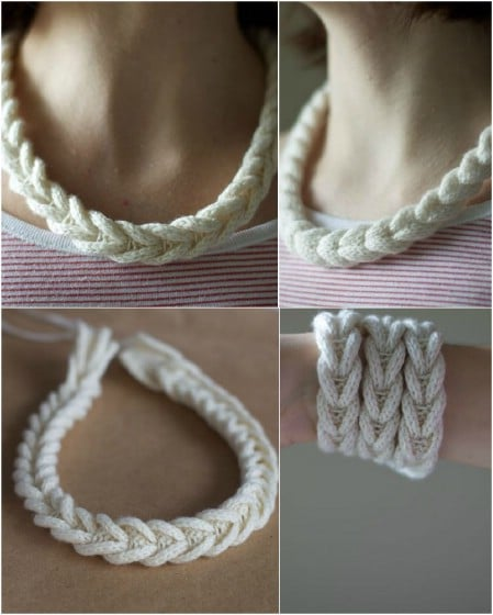 Make simple cable necklaces and bracelets