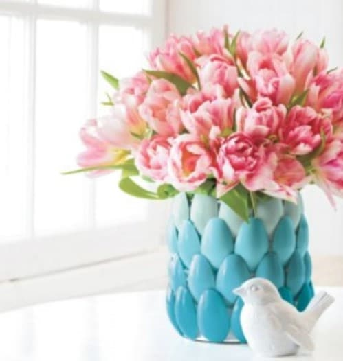 Repurposed Plastic Spoon Vase