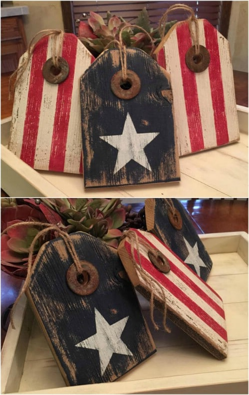 Rustic Distressed Wooden Tags