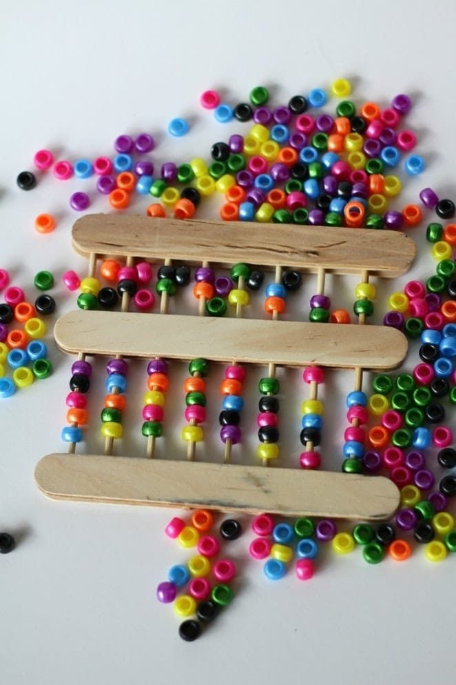 DIY Popsicle Stick Abacus