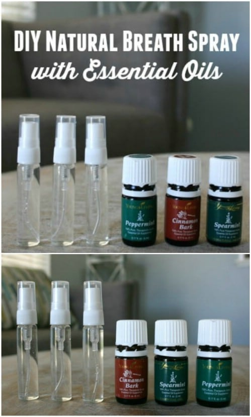Homemade All Natural Breath Spray