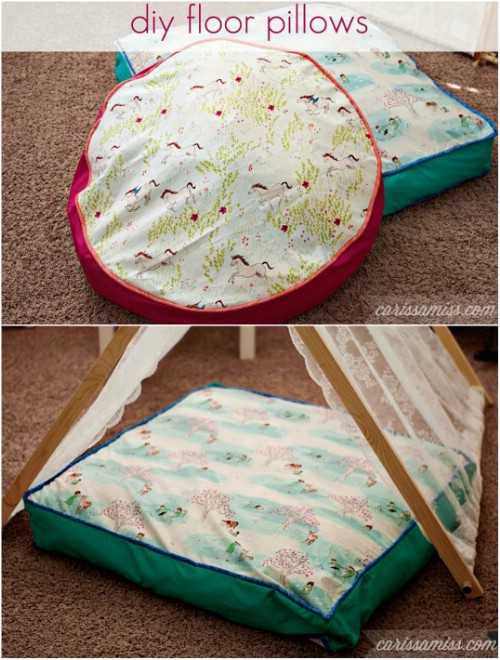 Fast And Easy DIY Extra Large Floor Cushions