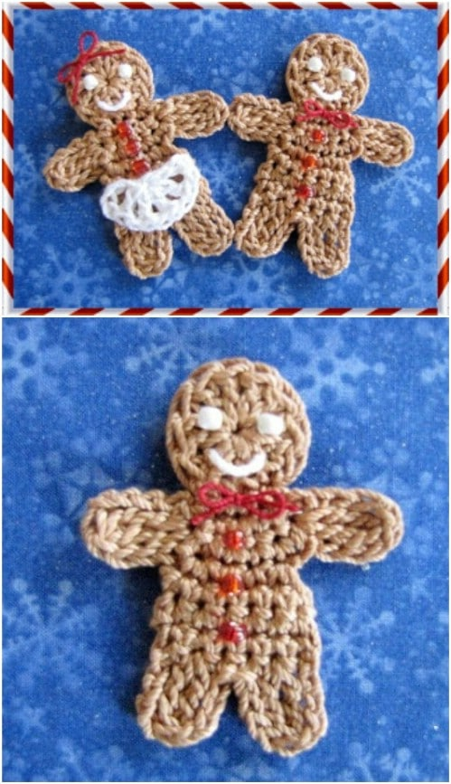 Easy Crochet Gingerbread People