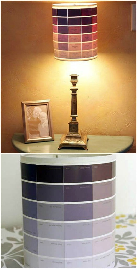 Simple DIY Paint Chip Lampshade