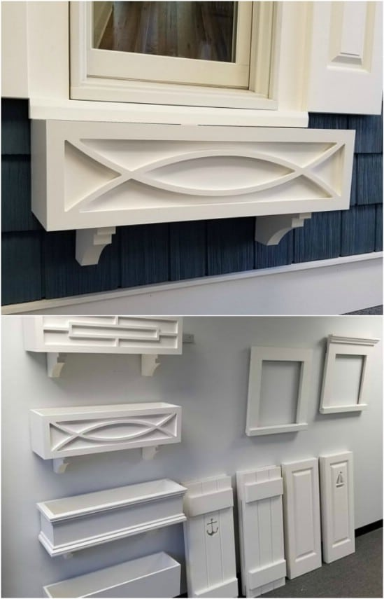 Repurposed PVC Window Box