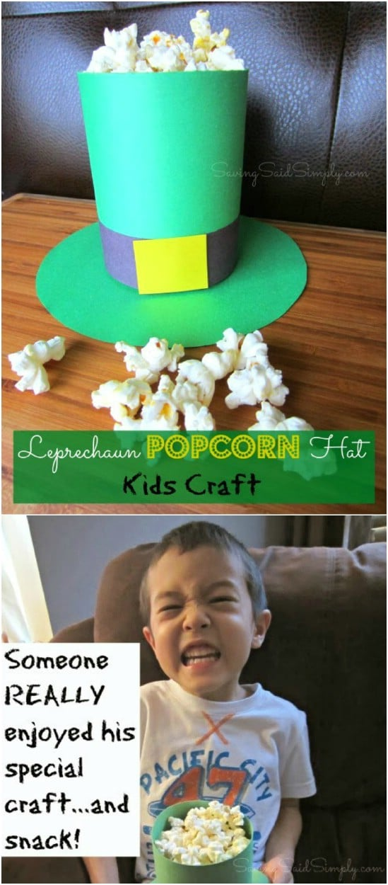 DIY Leprechaun Popcorn Hat