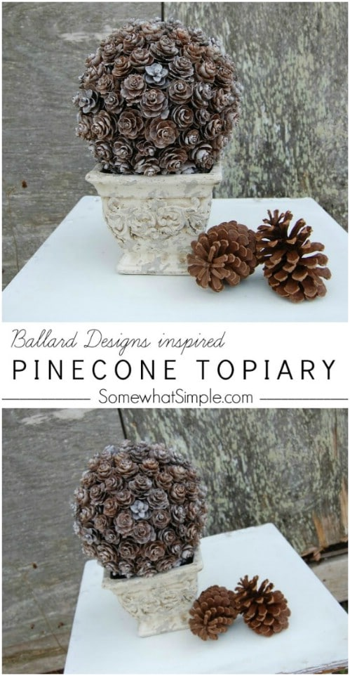 Gorgeous DIY Pinecone Topiary