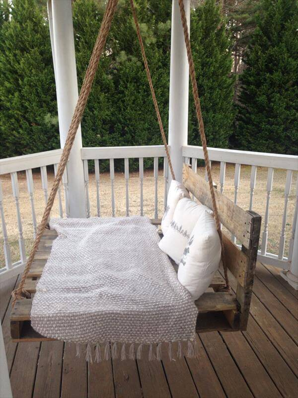 Rustic Repurposed Wooden Crate Swing