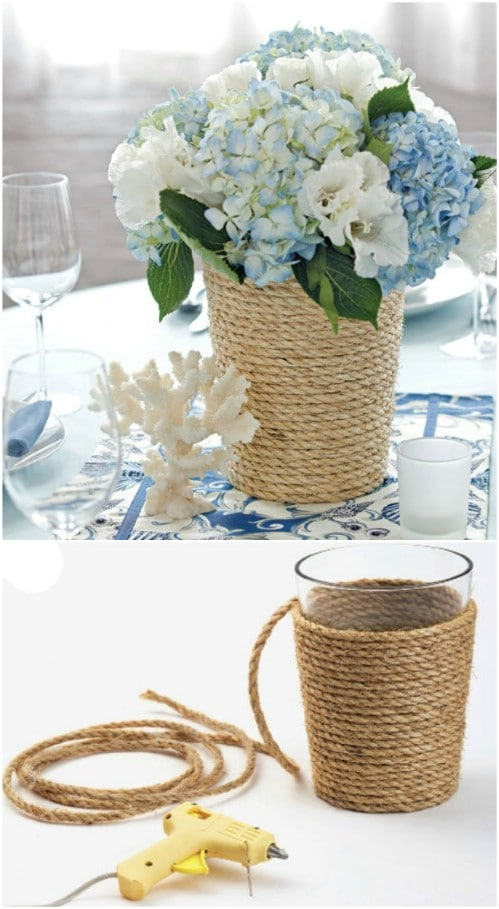 Rope Wrapped Summer Centerpiece