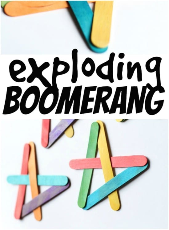 Popsicle Stick Exploding Boomerangs