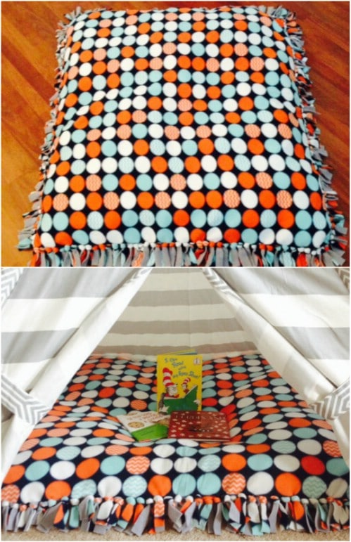 Super Easy No Sew Floor Pillow