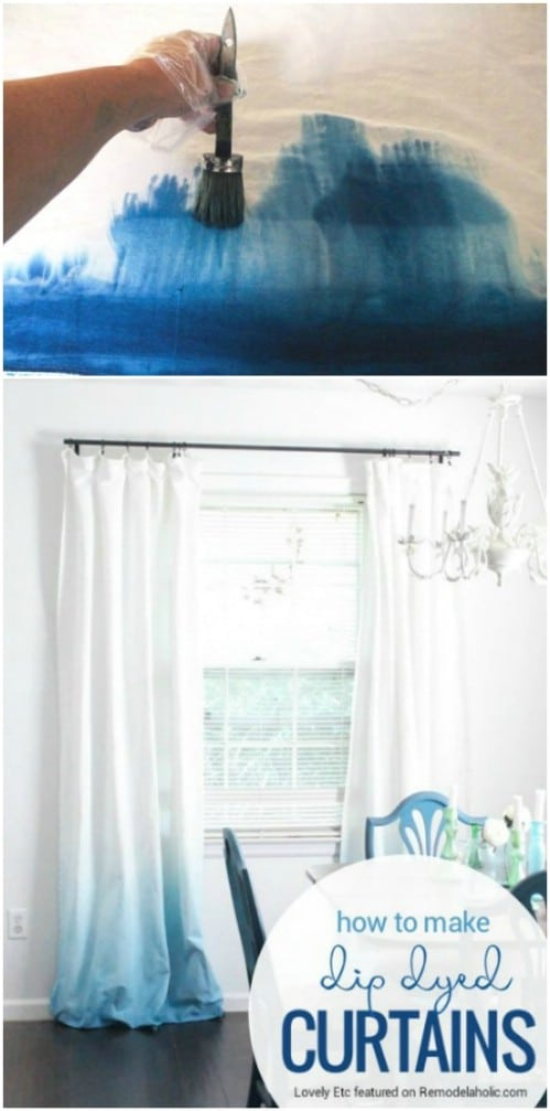 Try dip-dying your curtains.
