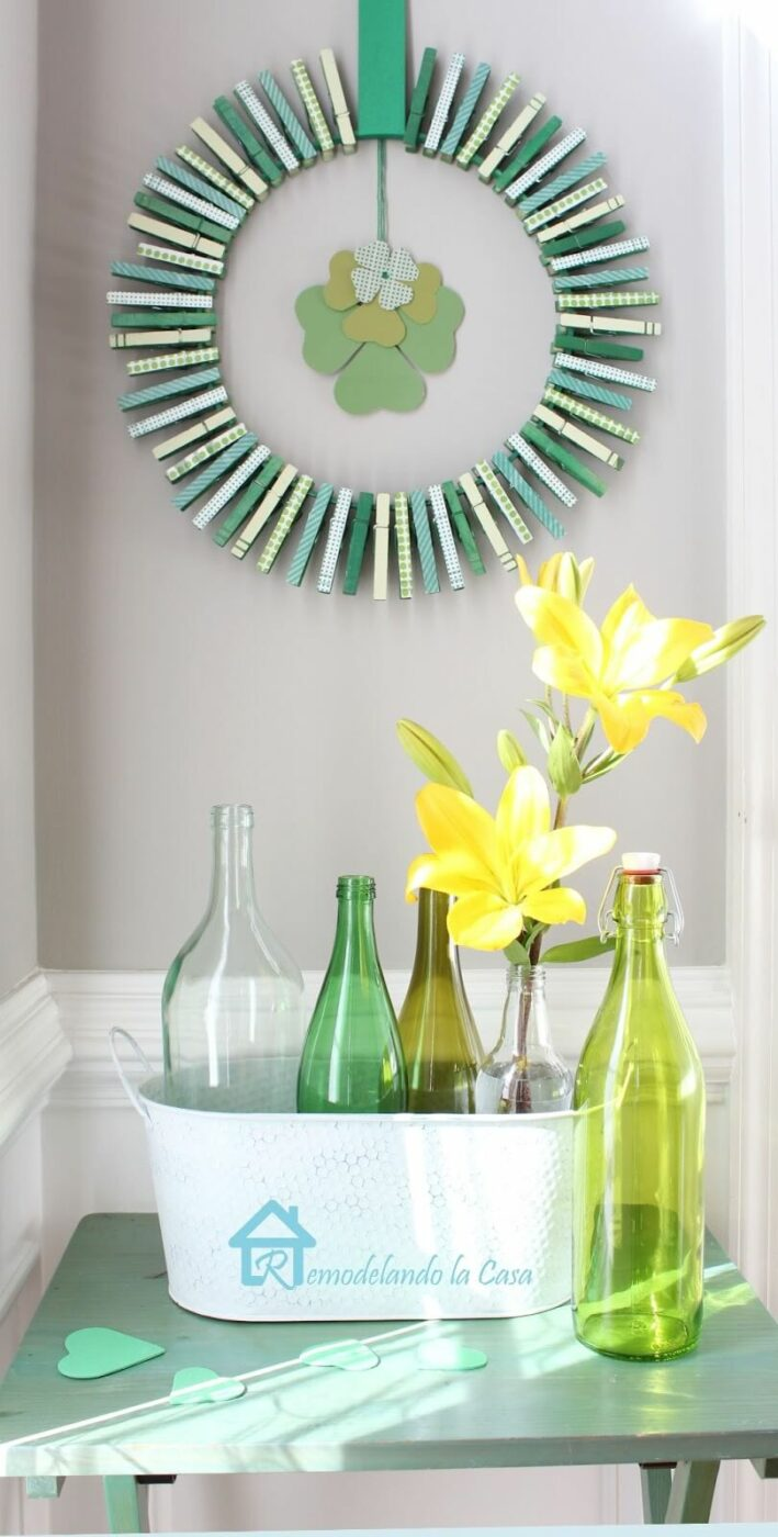 DIY St. Patrick's Day Clothespin Wreath